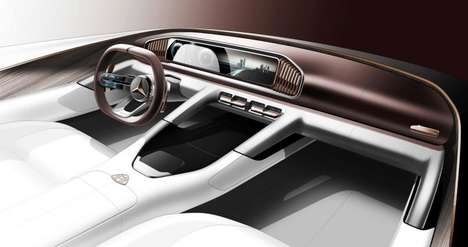Luxury Concept Interiors - The Mercedes-Maybach Ultimate Luxury Features Chinese-Inspired Interiors