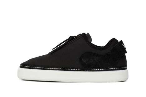 Luxurious Zip Shoe Silhouettes