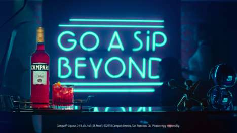 Open-Minded Alcohol Campaigns - Campari's Go Beyond a Sip Encourages a Look Beyond First Impressions