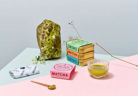 Aesthetically Driven Tea Branding - IWANT Design Creates a Colorful & Design-Forward Image for UKIYO