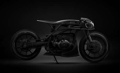 Aggressively Futuristic Motorcycles - The Barbara Black Mamba Transforms the Iconic BMW R-Series
