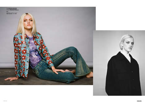 Updated Grunge Editorials - The Ones 2 Watch 'Marlene' Image Series Features 90s-Inspired Looks