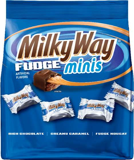 Snack-Sized Fudge Bars - The New Milky Way Fudge Bar Come in Bite-Sized Pieces