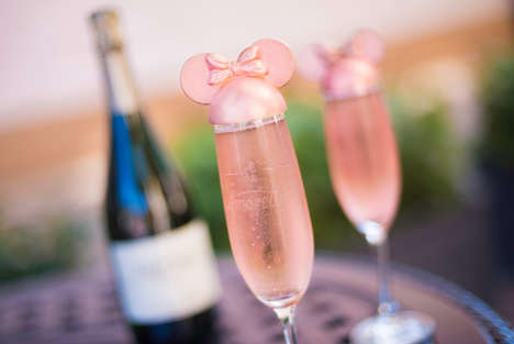Millennial Pink Champagne Sippers - Disney's Millennial Pink Celebration Toast is Picture Perfect