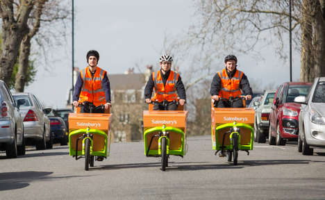 Zero-Emission Grocery Deliveries - Sainsbury's is Launching a Sustainable Delivery Service