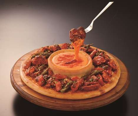 Dip-Integrated Pizzas