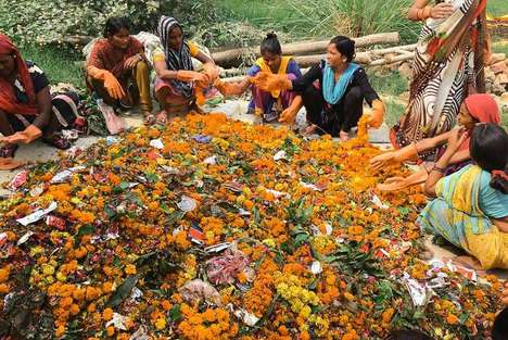 Religious Flower Petal Recycling - Help Us Green is Recycling Salvaged Flower Petals into Incense