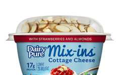 Mix-In Cottage Cheese Cups - DairyPure's Cottage Cheese Snacks are Paired with Wholesome Toppings