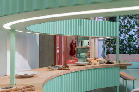 Compact Pastel-Toned Living Spaces