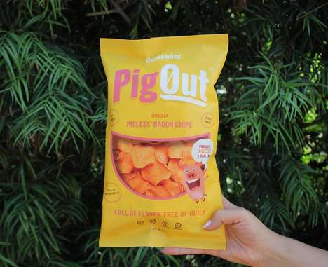 Plant-Based Pork Rind Snacks - Outstanding Foods' Pigless Bacon Chips Appeal to the Omnivore Palate