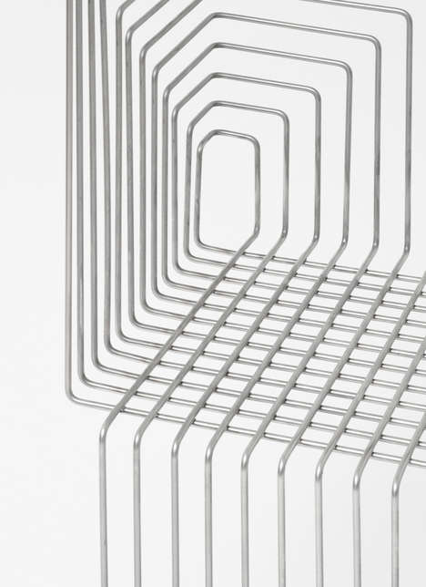 Trolley-Inspired Wire Chairs