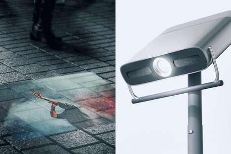 Interactive Street Performance Projectors