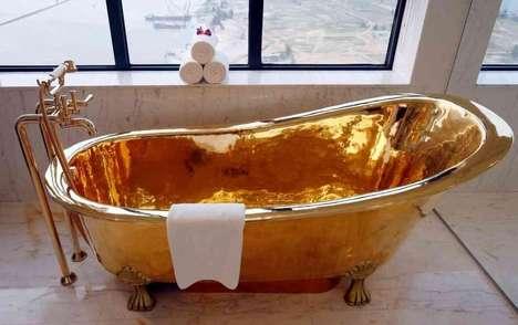 Ultra-Luxe Gold Bathroom Furniture