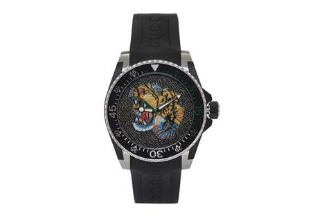 High-Fashion Tiger Motif Timepieces