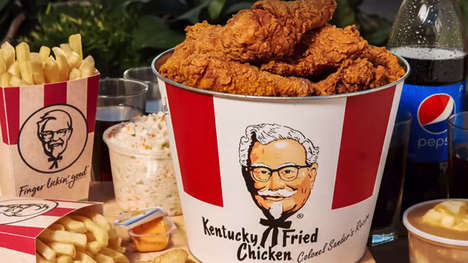 Retro Metal Meal Buckets - KFC is Giving Away Retro Meal Buckets While Supplies Last