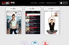 Live-Streaming Workout Apps - The 'Fitscope' App Offers Access to Premium Workouts