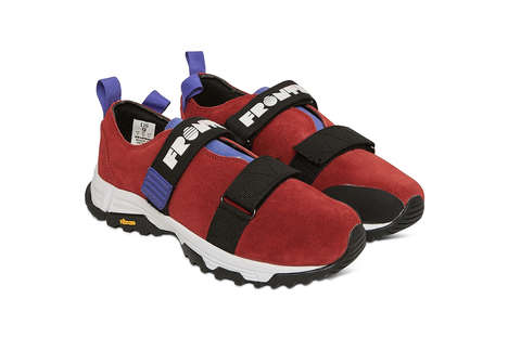 Adjustable Strap Suede Sneakers