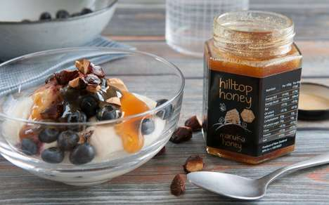 Nutrient-Dense Honeys - The Hilltop Honey Manuka Honey Range Comes in Three Strengths