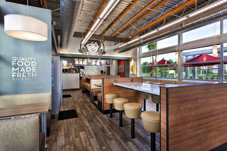 Energy-Efficient QSR Restaurants - This Small-Format Wendy's Restaurant Design Reduces Energy Use