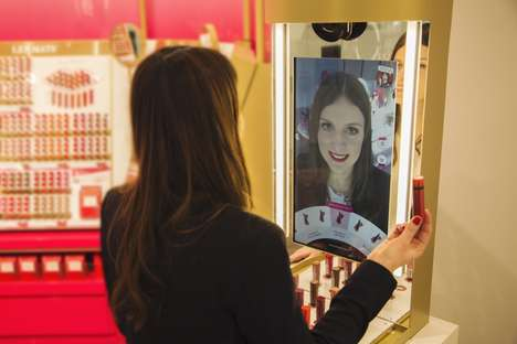 The Coty Magic Mirror Launches a Try-On Following Product Interaction