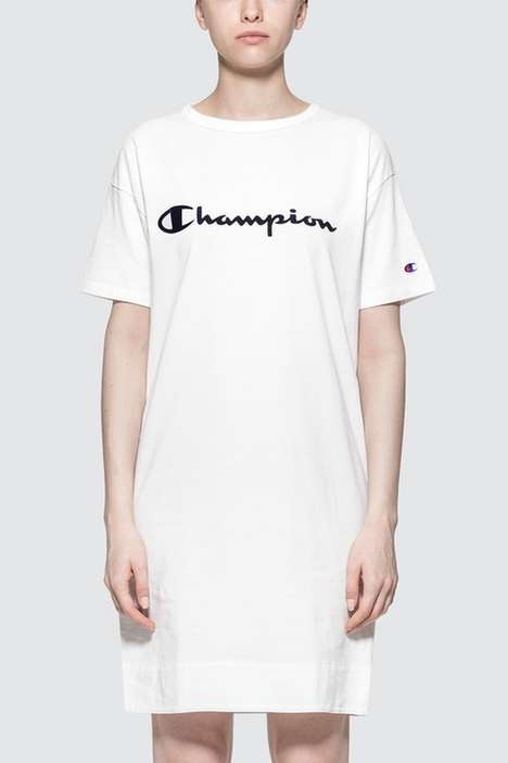 Crisp White T-Shirt Dresses