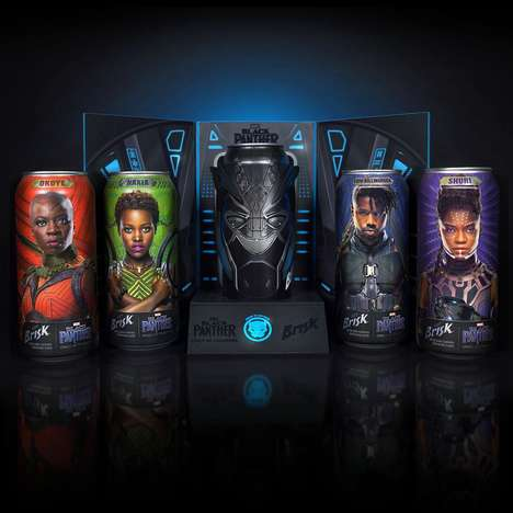 Filmic Collectible Cans - Brisk's High-Tech Black Panther Cans Reveal a Special Script