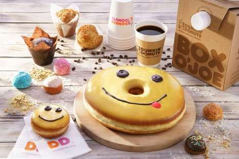 Oversized Smiling Donut Cakes - The Dunkin' Donuts Donut Cake is Available in Bulgaria