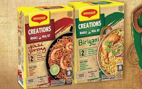Traditionally Spiced Noodle Kits - The New Maggi Creations Meal Kits Offer Enough Food for Two