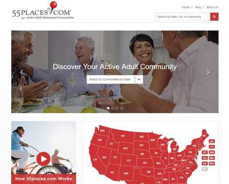 Retirement Real Estate Platforms - 55places.com is a Web Database for Retirement Community Housing