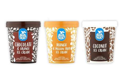 Locally Produced Ice Creams - The Blue Skies Dairy-Free Ice Cream is Made with Coconut Milk