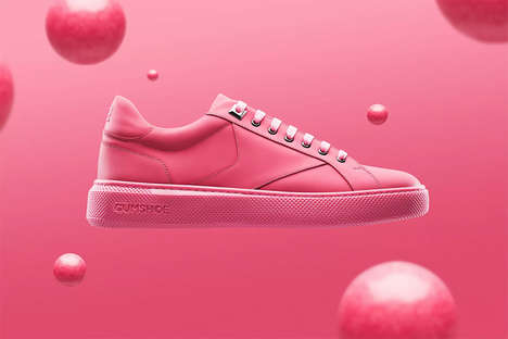 Recycled Gum-Created Sneakers