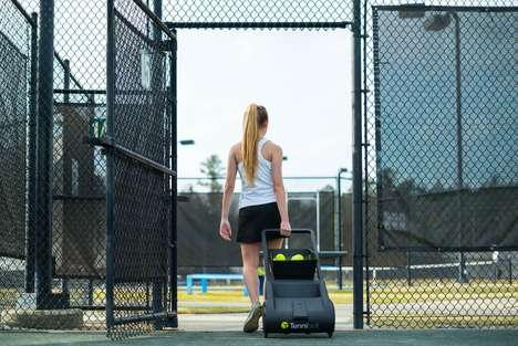 Ball-Collecting Tennis Robots - The 'Tennibot' Autonomously Hoovers Up Errant Tennis Balls