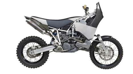 Adventurous Off-Road Motorbikes - This Motorbike's Frontal Transmission Makes for a High-Octane Ride