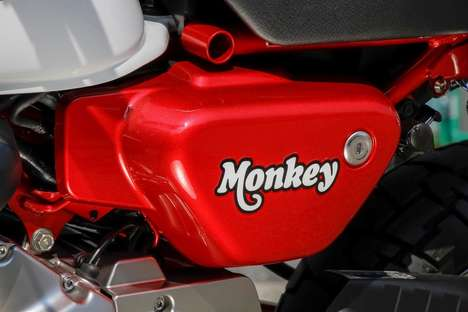 Irreverent Miniature Motorcycles - The New Honda 'Monkey' Bike is Unabashedly Goofy in Appearance