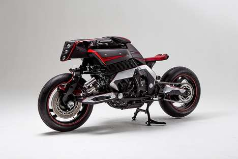 Svelte Custom Motorbikes - This Bespoke Motorbike Brings Modern Sensibilities to an Early-1990s Icon