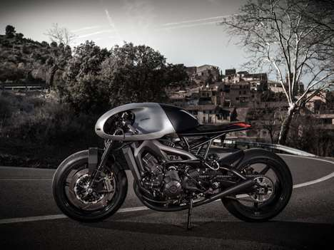 Retro Cafe Racer Motorbikes - This Custom Yamaha Motorbike Blends Futuristic and Retro Aesthetics
