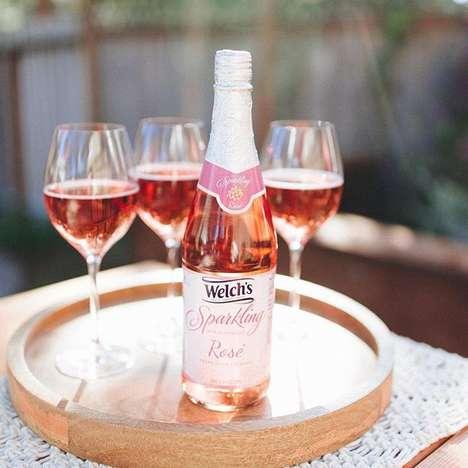 Sparkling Non-Alcoholic Rosés