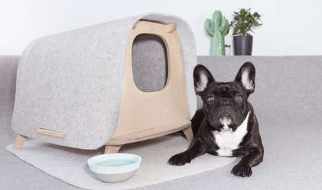 Demure Multipurpose Pet Houses - 'The Wool Lodge' Offers Cats or Dogs a Place of Their Own