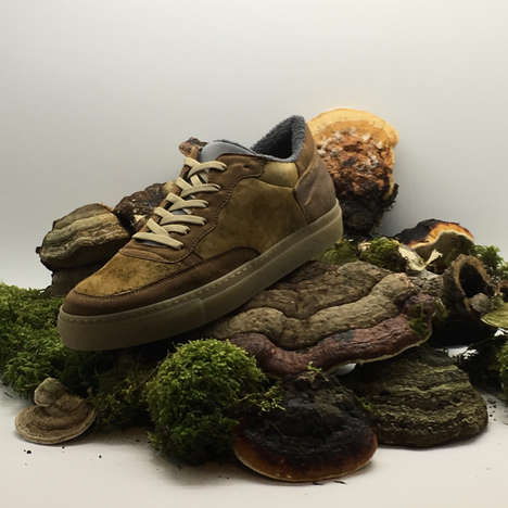 Mushroom Leather Sneakers - nat-2's 'Fungi Line' Introduces Luxe Vegan Shoes Made from Real Fungus