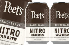 Chocolate Cold Brew Coffees - Peet's Canned Nitro Cold Brew is Available in the United States
