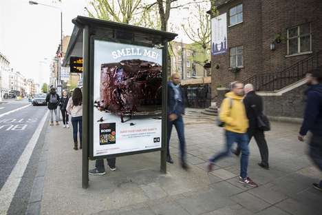 Aromatic Bus Shelter Ads - HarperCollins' Scented Advertisement Teases a Vegan Cookbook