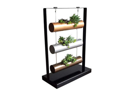 Minimalist Succulent Gardens - The SOMMERLAND Vertical Garden Planting System is Compact