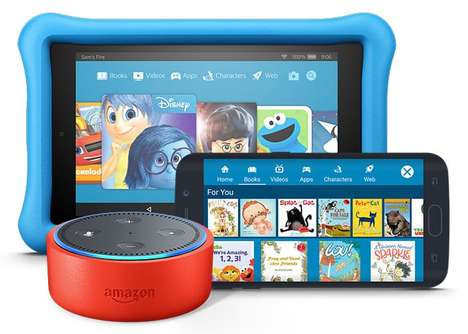 Child-Friendly Voice Assistant Devices - The Amazon Echo Dot Kids Edition is Youth-Focused