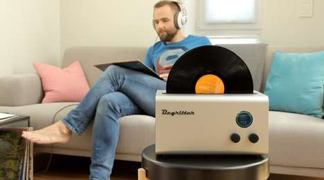 Ultrasonic Vinyl Record Cleaners - The 'Degritter' Removes Micro Particles to Keep Records Playable