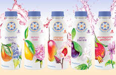 Botanically Infused Bottled Waters - The New Blossom Water Flavors are Made with Natural Ingredients