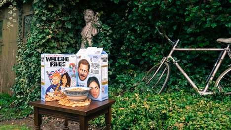 Royal Wedding-Themed Cereals - Harry and Meghan's Marriage is Commemorated in a Wedding Cereal