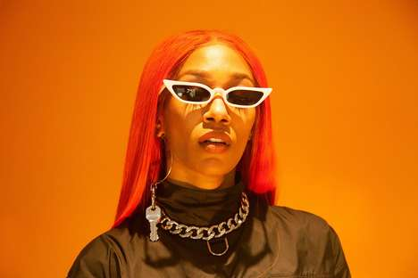 Gender-Free Futuristic Sunglasses - WE ARE MORTALS' New Line of Sunglasses is Modeled by Rapper BIA