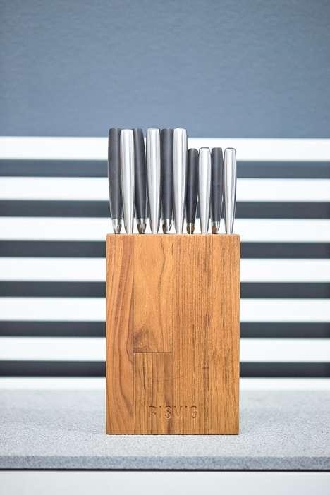 Premium Teak Knife Blocks