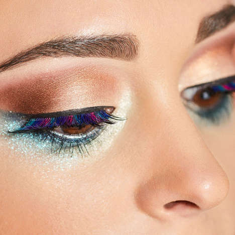 Whimsical Multi-Colored Eyelashes