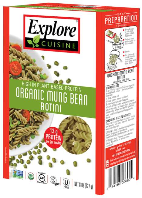 Mung Bean Pasta Noodles - Explore Cuisine's Bean-Based Pasta is Made from Just Mung Bean Flour